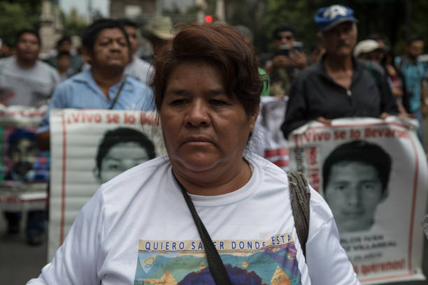 MEX: Parents Of The 43 Missing Students Of Ayotzinapa Protest In Mexico City