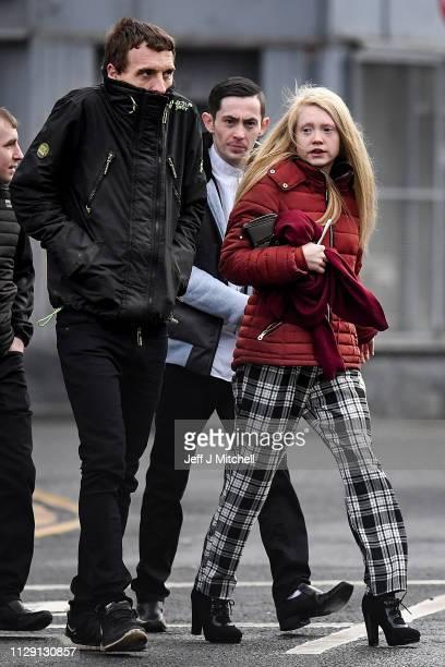 Mother of Alesha MacPhail Georgina Lochrane arrives at Glasgow High Court on February 12 2019 in Glasgow Scotland Six year old Alesha MacPhail was...