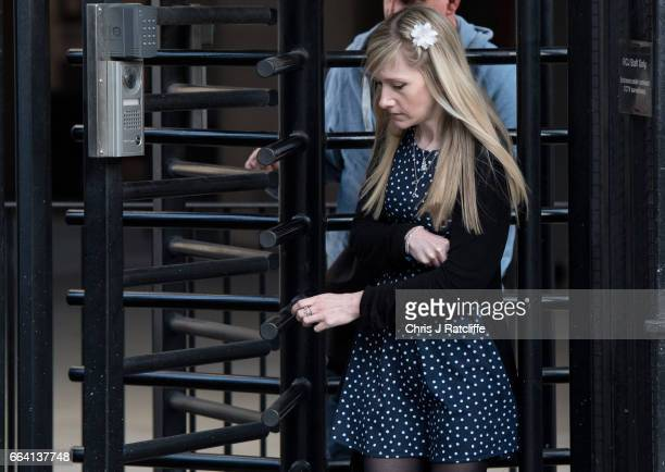 Mother of Charlie Gard Connie Yates leaves the Royal Courts of Justice on April 3 2017 in London United Kingdom The crowdfunding campaign raising...