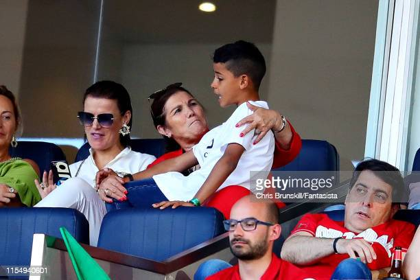 Mother of Cristiano Ronaldo of Portugal Maria Dolores dos Santos Aveiro looks on before the UEFA Nations League Final between Portugal and the...