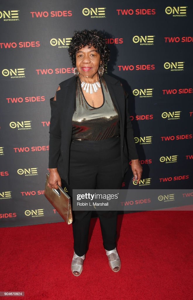 Mother of Eric Garner, Gwen Carr attends the NAACP Screening and Social Justice Summit for TV One's 'Two Sides' at First AME Church on January 13, 2018 in Los Angeles, California.