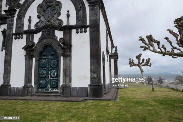 mother of god chapel in ponta delgada, azores - ponta delgada stock photos and pictures