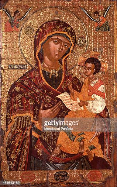 Mother of God with Child by Onufri Qiprioti begin of the 17th Century tempera on wood Albania Tirana Institute for Cultural Monuments Whole artwork...