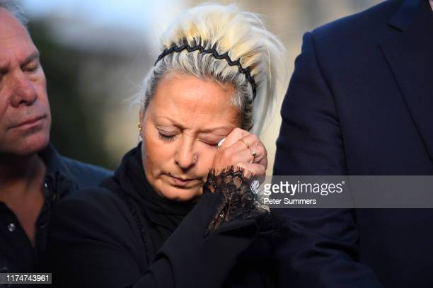 Mother of Harry Dunn Charlotte Charles speaks to the media after meeting with Foreign Secretary Dominic Raab on October 9 2019 in London England...