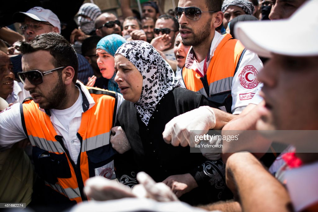 Funeral Held For Slain Palestinian Teenager : News Photo
