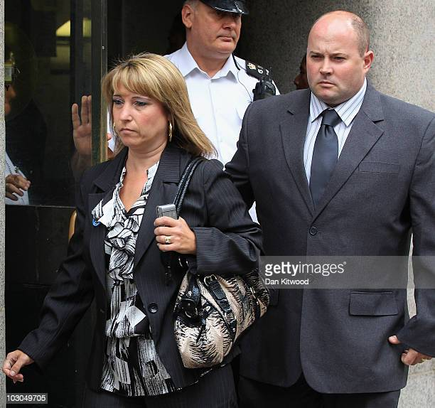 Mother of murdered toddler James Bulger Denise Fergus and husband Stuart Fergus leave the Old Bailey on July 23 2010 in London England Jon Venables...