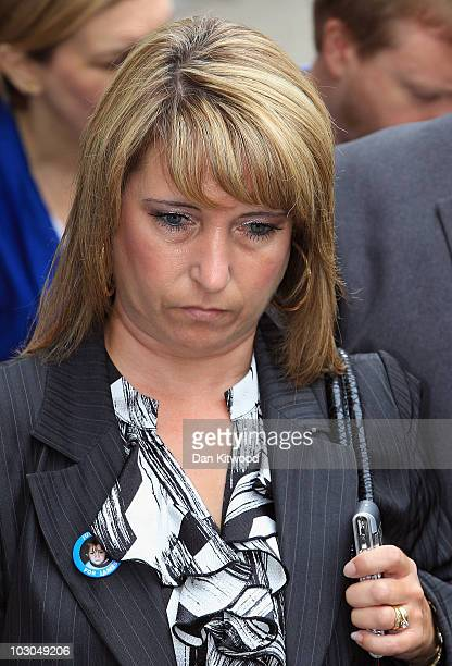 Mother of murdered toddler James Bulger Denise Fergus leaves the Old Bailey on July 23 2010 in London England Jon Venables one of the two men...