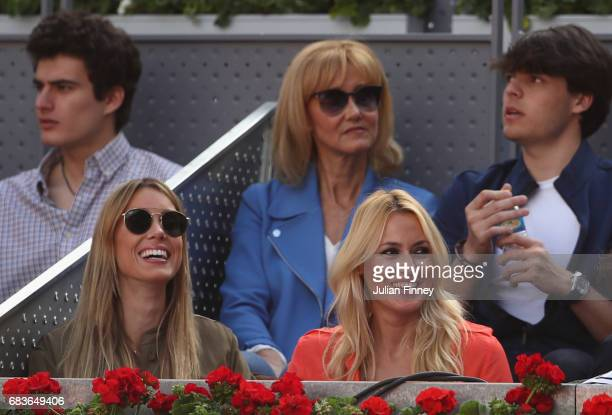 Mother of Rafael Ana Maria Parera and Sister Maria Isabel Nadal attend the match between Rafael Nadal of Spain and Dominic Thiem of Austria in the...