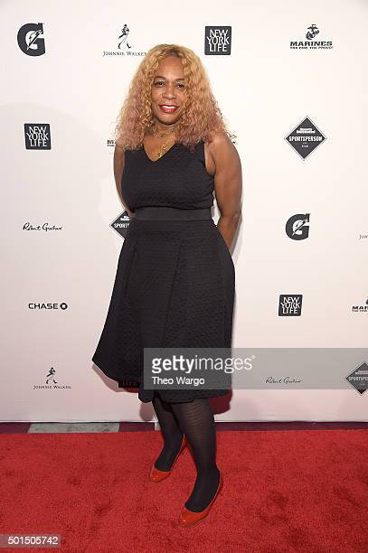 Mother of Serena and Venus Williams tennis coach Oracene Price attends Sports Illustrated Sportsperson of the Year Ceremony 2015 at Pier 60 on...