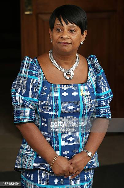 Mother of Stephen Lawrence Doreen Lawrence waits for guests to arrive at a memorial service for her son Stephen Lawrence at St MartinintheFields...