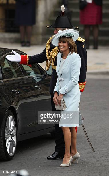 Mother of the bride Carole Middleton arrives to attend the Royal Wedding of Prince William to Catherine Middleton at Westminster Abbey on April 29...