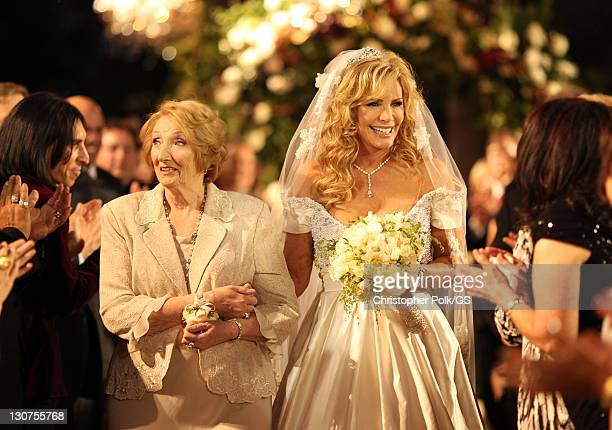 Mother of the Bride Louise Tweed and Bride Shannon Tweed attend the wedding of Gene Simmons and Shannon Tweed at the Beverly Hills Hotel on October 1...