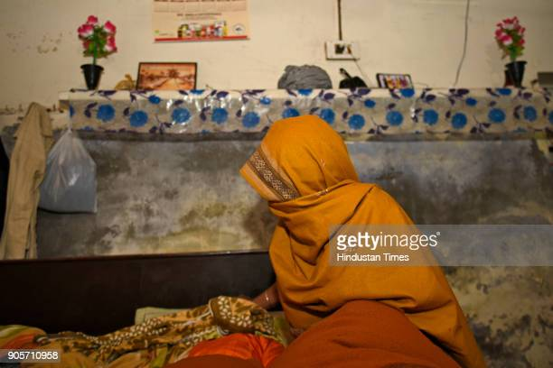 Mother of the rapemurder victim at her home at Jhansa village on January 16 2018 in Jind India A Class 12 student is the prime suspect in the rape...