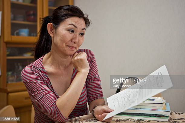 Mother pleased with report card