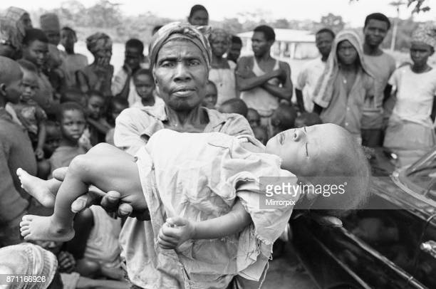 A mother seen here holding the dead body of her baby girl just one of the estimated one to two million victims of the Biafran War 23rd June 1968