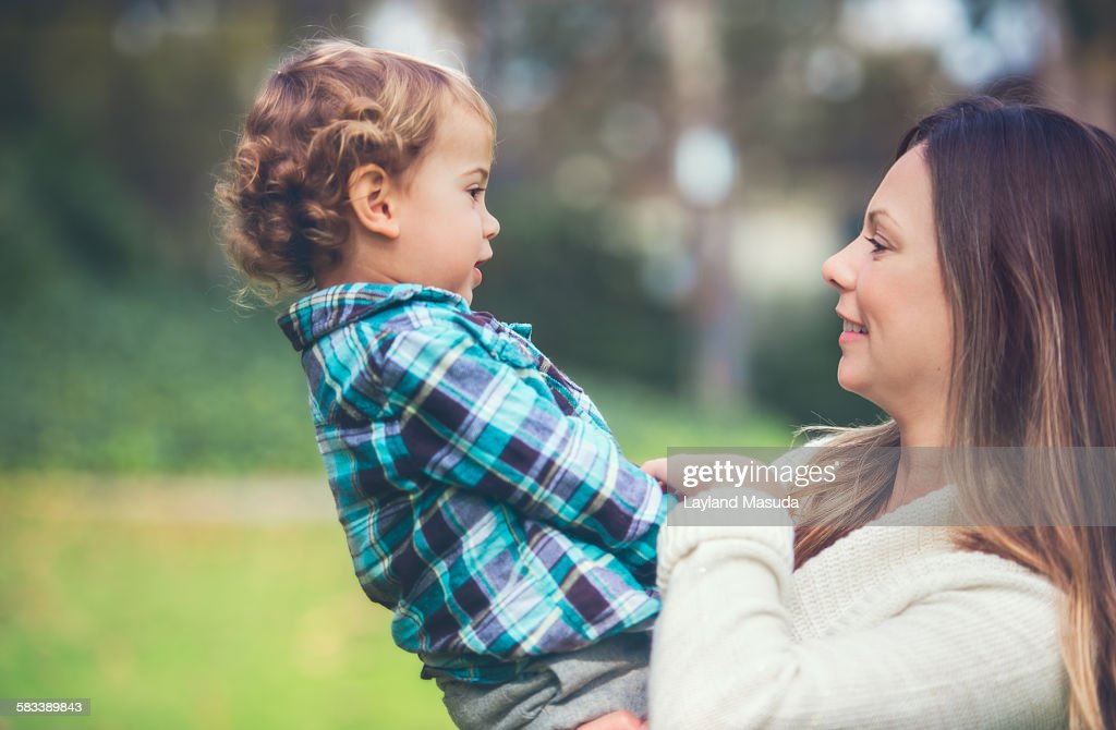 Mother son connection : Stock Photo