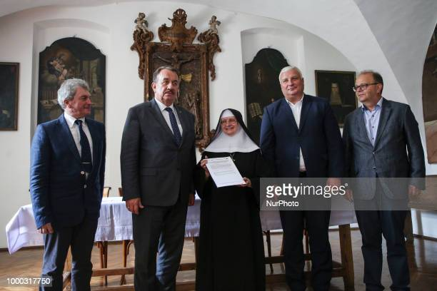 Mother Superior Stefania Polkowska and regional authorities after signing the operating programme for 20142020 that will allocated 7 million zloty of...