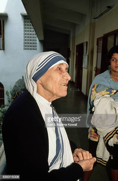 Mother Teresa at Mother House in Calcutta