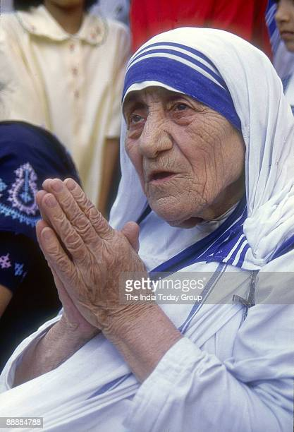 Mother Teresa Founder of Missionnaries of charity and Winner of the Nobel Peace Prize in 1979