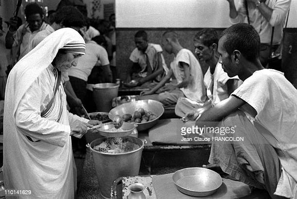 Mother Teresa in her congregation 'Missionary of charity' in Calcutta India in October 1979