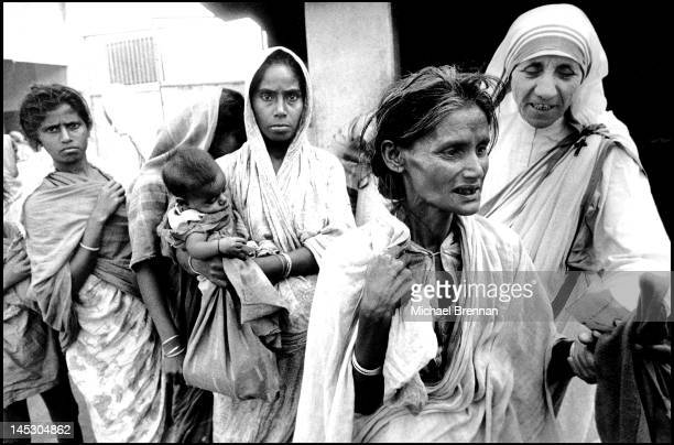 Mother Teresa of Calcutta Head of the Sisters of Charity working with some of the lepers in Calcutta 7th December 1971 These are some of the first...