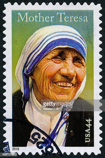 mother teresa stamp - mother teresa stock pictures, royalty-free photos & images