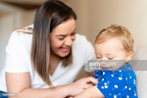 Mother Tickling and Having Fun with her cute baby