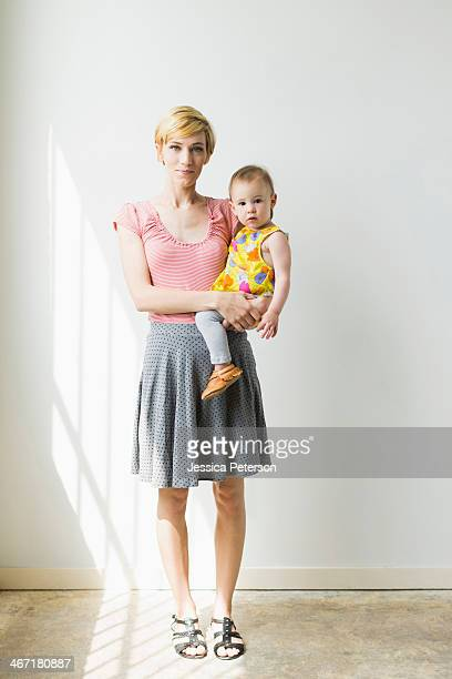Mother with baby daughter (12-17 months)
