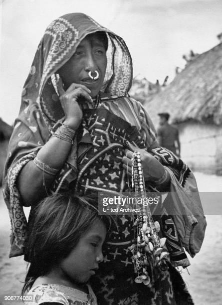 Mother with child of Porvenir on San Blas archipelago Panama 1970s