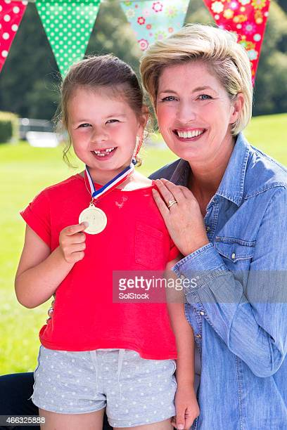 Mother with Daughter at her Sports Day