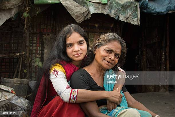 mother with daughter - bangladesh mother stock pictures, royalty-free photos & images