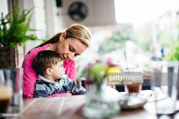 Mother with her 1 year old son