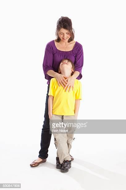 a mother with her son - 8 9 anni foto e immagini stock