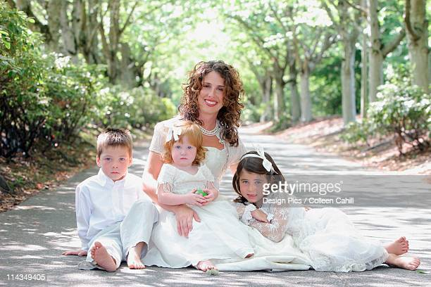A Mother With Her Three Children
