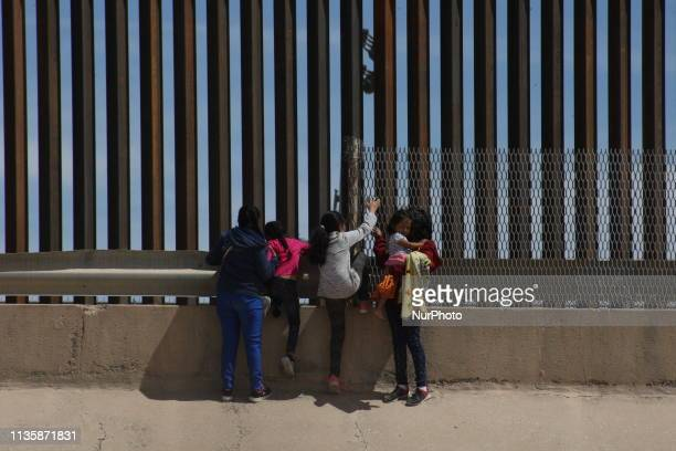 A mother with her three daughters from Guatemala crossed Mexico to reach the United States in search of political asylum at the border City JuarezEl...