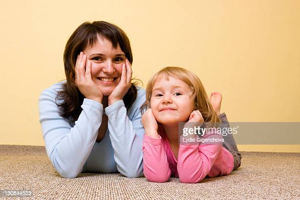 Mother with little girl, 36 and 3 years