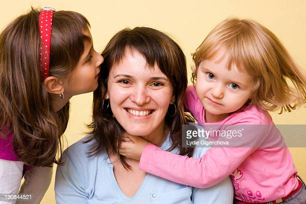 Mother, 36, with little girls, 3 and 7 years