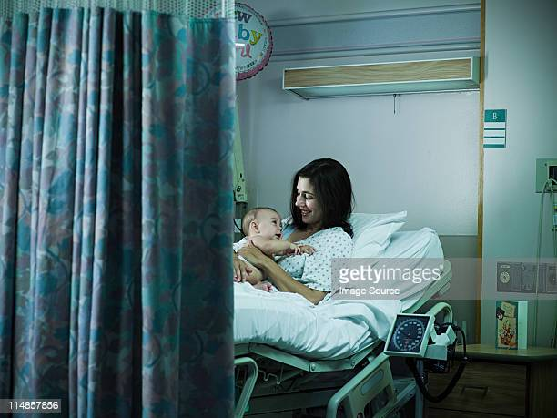 Mother with nerwborn baby in hospital