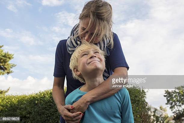 Mother with son