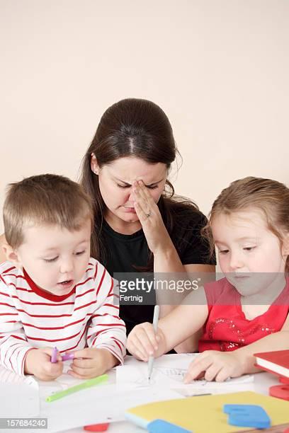 Mutter mit stress