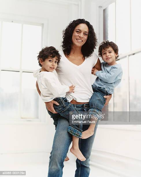 Mother with Twin Boys