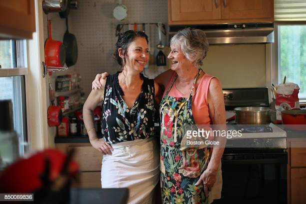 Motherdaughter team Gabrielle Rossmer Gropman right and Sonya Gropman pose for a portrait in Medford MA on Aug 21 2017 The pair just wrote 'The...