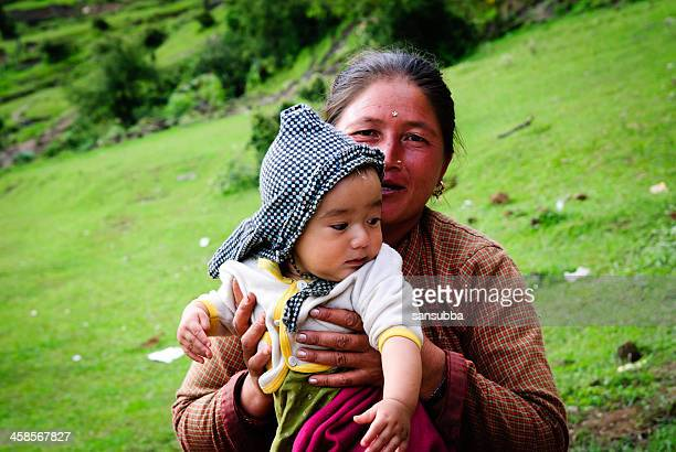 motherhood - nepalese ethnicity stock pictures, royalty-free photos & images