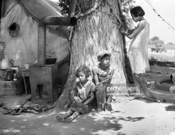 Motherless Migrant Children, California, USA, Dorothea Lange, Farm Security Administration, June 1935.