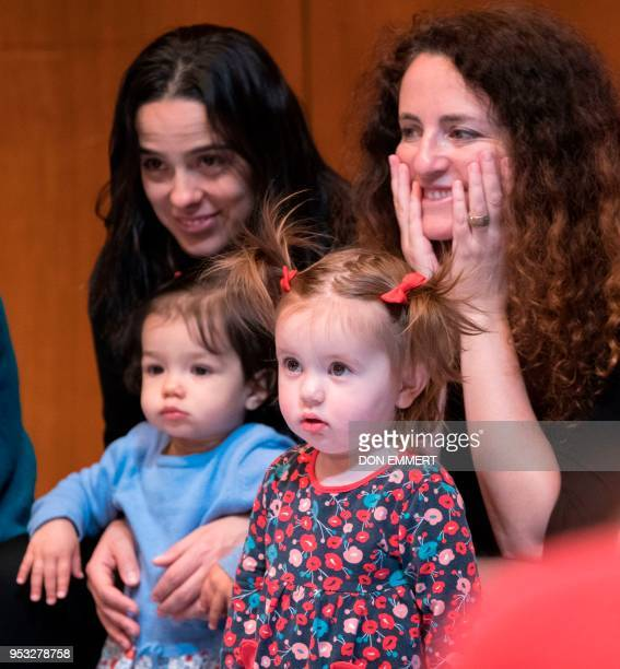 Mothers and children listen during the presentation of BambinO on April 30 2018 at the Metropolitan Opera House in New York New York parents ever...