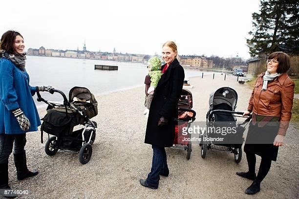 Mothers and perambulators Sweden.
