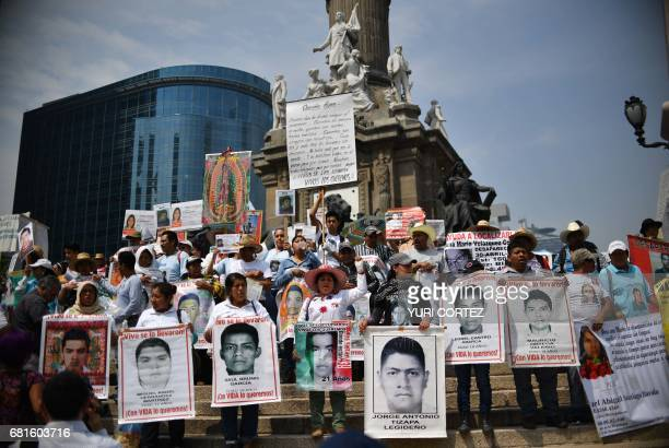 Mothers and relatives of missing people participate in a march of protest against the government in demand of the clarification of the disappeared in...