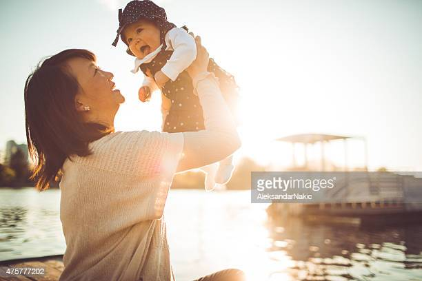 mother's biggest treasure - chinese mothers day stock pictures, royalty-free photos & images