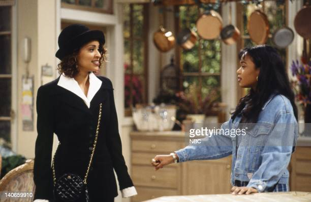 AIR THE Mother's Day Episode 23 Pictured Karyn Parsons as Hilary Banks Tatyana Ali as Ashley Banks Photo by Joseph Del Valle/NBCU Photo Bank