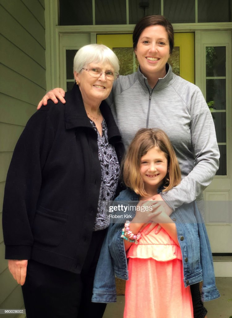 Mother's Day - Grandmother, Daughter and Granddaughter : Stock-Foto